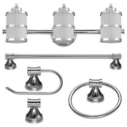 Transitional Bathroom Accessory Sets by Globe Electric