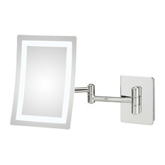 Neomodern Led Lighted Wall Mirror, Hardwired
