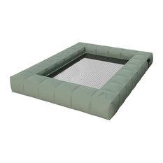 Modul'Air Double Floating Hammock, Aquamarine, Olive Green
