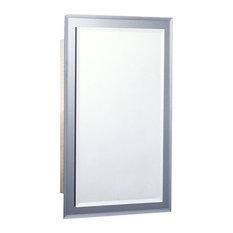 """Mirror on Mirror 16""""x26"""" Recess Mount Medicine Cabinet"""