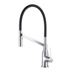 Vallant Kitchen Faucet Spray Head Gooseneck, Chrome