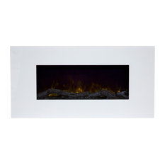 Northwest - Northwest 36'' Color Changing LED Electric Fireplace with Remote, White - Indoor Fireplaces