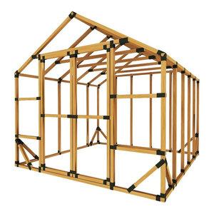 8x10 Standard Greenhouse Kit Greenhouses By E Z Frame