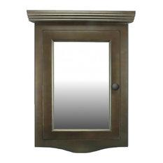 Dark Oak Wall Mount Bathroom Medicine Cabinet Corner With Mirror