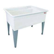 """E. L. Mustee & Sons, Inc. - Mustee Bigtub Utilatub Laundry Tub 17.5""""x38.5""""x34"""" - Utility Sinks"""