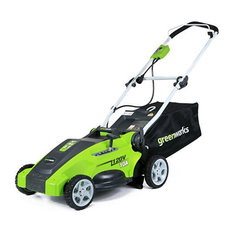 Corded Lawn Mower, 2 in 1 Feature Provides Mulching and Rear Discharge