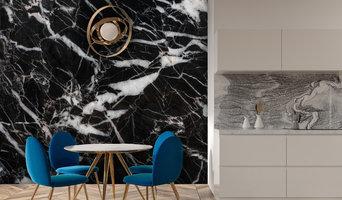 Black & White Marble Mural