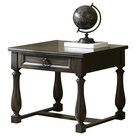 Steve Silver Leona End Table In Dark Hand Rubbed
