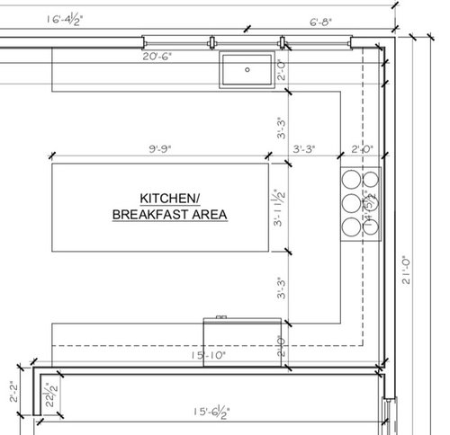 Ideal Ratio For A Kitchen Island