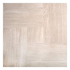 """Parquet Cream 20""""x20"""" Porcelain Large Format Floor Tile, Set of 7"""