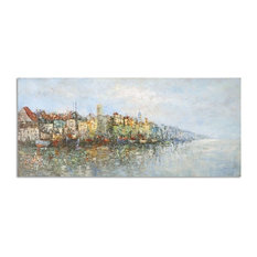 Coastal French Impressionist Oil Painting