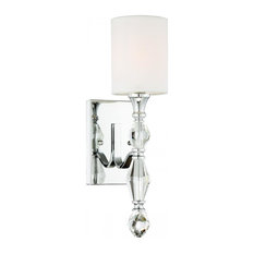 Evi 1-Light Wall Sconce/Bath, Chrome