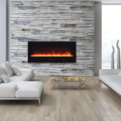 """Wall Mount / Flush Mount Series Electric Fireplace with Log Set, 50"""""""