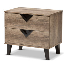 50 most popular rustic nightstands and bedside tables for 2018 houzz baxton studio swanson modern and contemporary light brown wood 2 drawer nightstand nightstands watchthetrailerfo