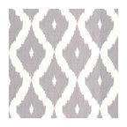 Kellys Ikat Wallpaper, White/Soft Gray, Double Roll