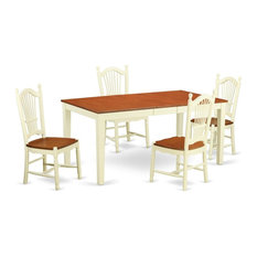 5-Piece Dining Room Set Dinette Table And 4 Kitchen Chairs