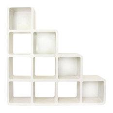 Zubiix Staircase Bookcase - White
