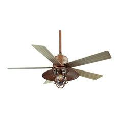 54 Rustic Copper Indoor Outdoor Ceiling Fan