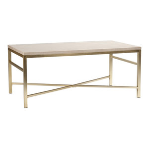 Gayle Faux Stone Cocktail Table