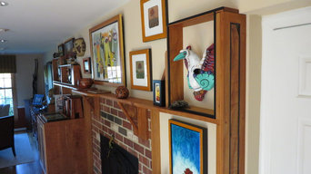 Lending Cabinets Mantel and Wall Sheving