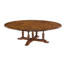 Rustic Extra Large Solid Walnut Round Dining Table Seats 10 12