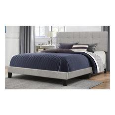 Hillsdale Furniture - Hillsdale Delaney Upholstered Queen Panel Bed, Glacier Gray - Panel Beds
