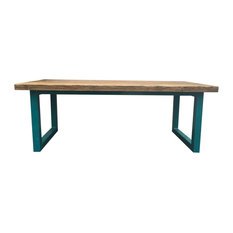 Ubar Reclaimed Wood Table/Desk, Blue, Large