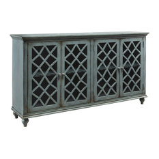 Ashley Furniture Home Mirimyn Door Accent Cabinet Antique Teal T505 762 Buffets