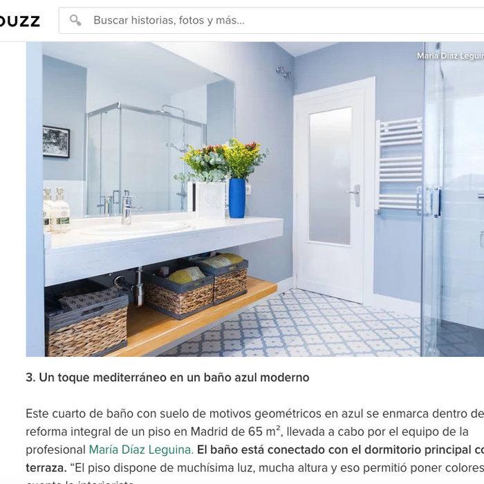 Cuarto de baño destacado en la revista Houzz
