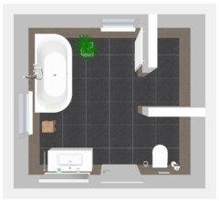 anordnung badezimmer. Black Bedroom Furniture Sets. Home Design Ideas