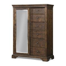 Klaussner - Klaussner Trisha Yearwood Home Tulsa Sliding Door Chest in Coffee 920-680 - Dressers