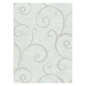 Wallpaper Designer Shiny Silver and Gray Faux Crackle