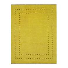 Handmade Wool Yellow Lori Baft Rug, 8'x10'