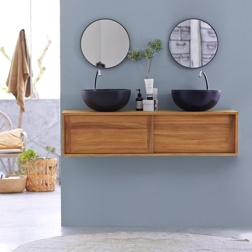A quelle hauteur du sol installer plan destiné pour vasque salle bain