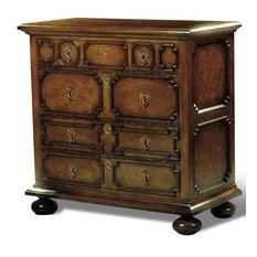 Chest Scarborough House Century Myrtle Burl Brass Handles Decorative