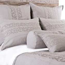 Traditional Duvet Covers And Duvet Sets Allegra Collection Bedding, Queen Duvet, Flax