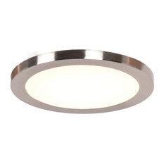 """Disc LED Round Flush Mount, Brushed Steel, 9.5"""""""