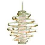Corbett Lighting - Corbett Vertigo 4-Light Pendant in Modern Silver - -4 Light Pendant