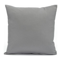 """Solid Stone Gray Accent, Throw Pillow Cover, 16""""x16"""""""