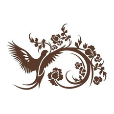 """Flapping Of Wings Wall Hanger Decal, Brown, 31""""x20"""""""
