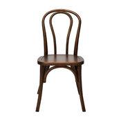 Sonoma Bentwood Stackable Chair, Dark Walnut