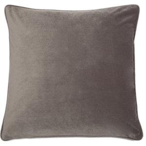 Cotton Velvet Grey Luxe Cushion