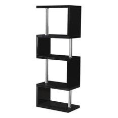 Seconique Charisma 5-Shelf Bookcase Unit, Black Gloss