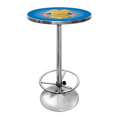Police Officer Chrome Pub Table by Trademark Global
