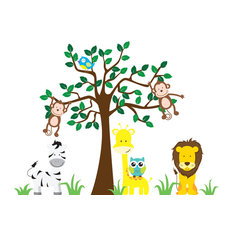 Nursery Jungle Wall Decals, Animal Wall Decals, Nursery Wall Decals