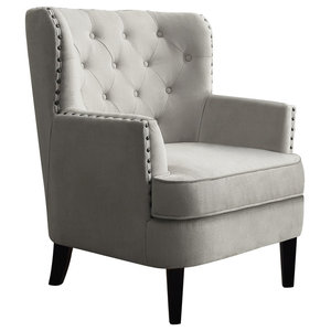 Chrisanna Wingback Accent Chair, Beige