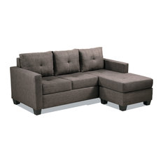 Emma Sofa Chaise Collection Brown Reversible Sofa Chaise
