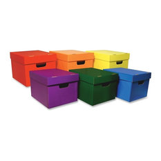 Classroom Keepers - Classroom Keepers Stackable Storage Tote Assortment Multicolor Set Of 6 -  sc 1 st  Houzz & 50 Most Popular Contemporary Storage Bins and Boxes for 2018 | Houzz