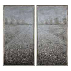 Pebble Road Textured Metallic Hand Painted Wall Art by Martin Edwards
