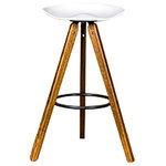Nuevo - Vega Bar Stool - The Vega Bar Stool boasts a stylish design and a modern look. It can be used as a bar stool as well as a counter stool. This piece can perfectly fit into areas with an industrial style, and can also match furniture and d�cor with urban style.